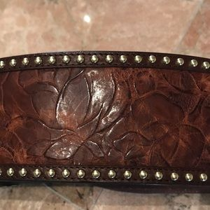 Wide Brown With Matte Gold Accessories Belt
